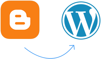 Manually redirects your website from Blogger to WordPress